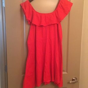 Dresses & Skirts - Red/orange off the shoulder dress